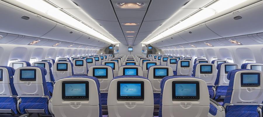 صندلی های کلاس پروازی اکونومی
