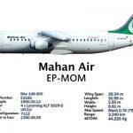 هواپیمای هواپیما bae نوع rj85 ماهان ایر