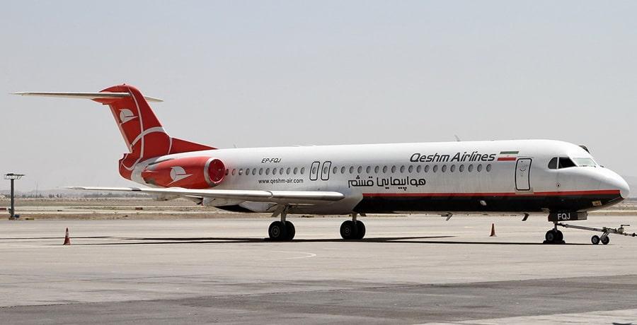 معرفی هواپیما فوکر 100 در ناوگان هوایی ایران