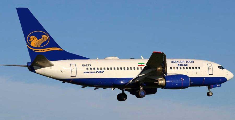 مسیرهای پروازی ایران ایر تور