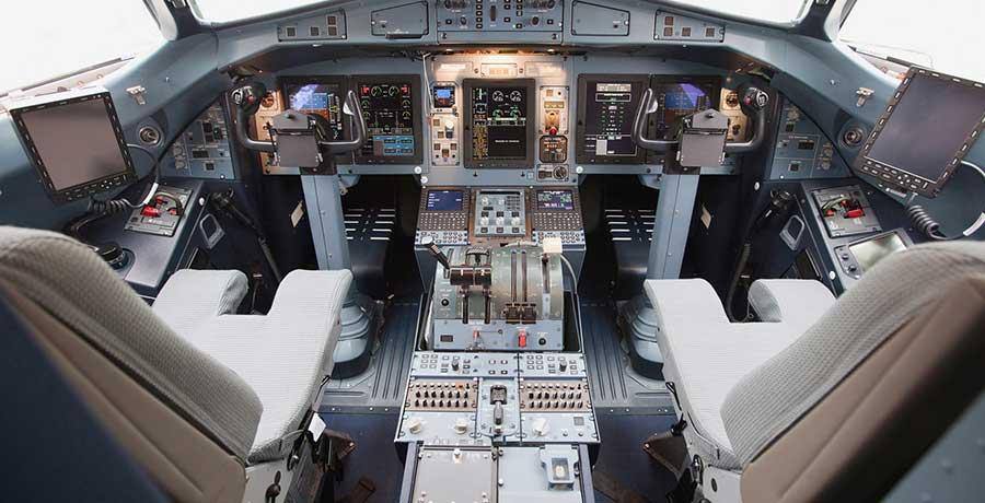 کابین خلبان هواپیمایی آسمان