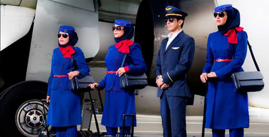 کارمندان هواپیمایی نفت کارون