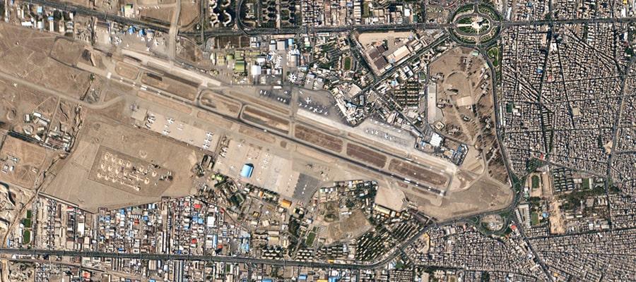 تصویر فرودگاه مهرآباد از نمای بالا