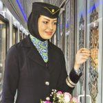 عکس مهمانداران خانم قطار فدک