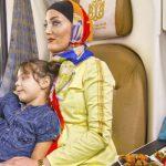 عکس مسافران در کوپه قطار فدک