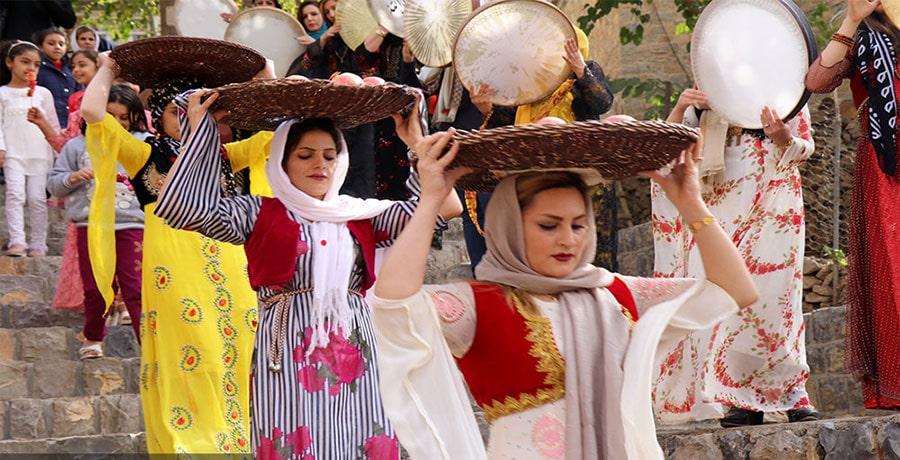 تصویری از آیین و فرهنگ مردم کردستان و لباس های محلی مردم کرد