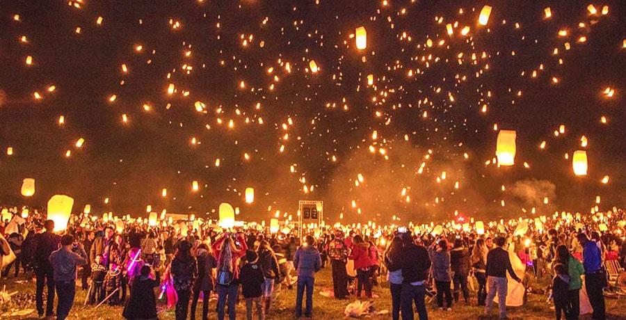 تصویری از فستیوال فانوس در چین