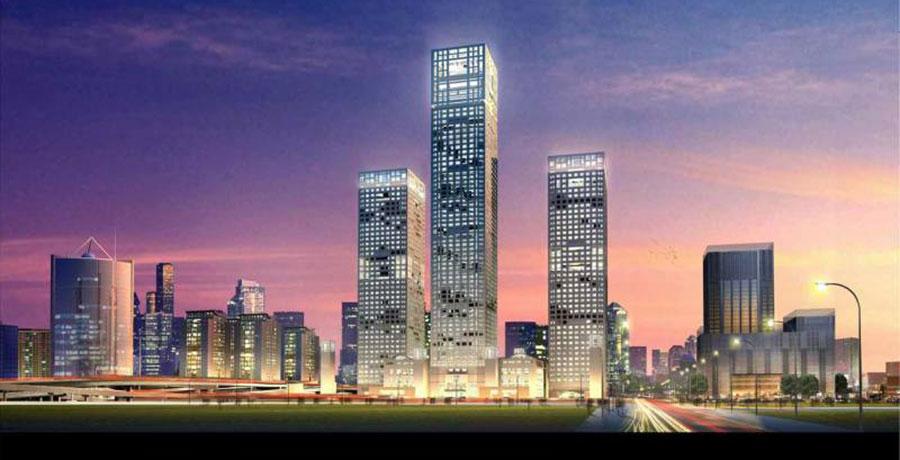 مرکز خریدBeijing Yintai Center، برج های سه قلوی پکن