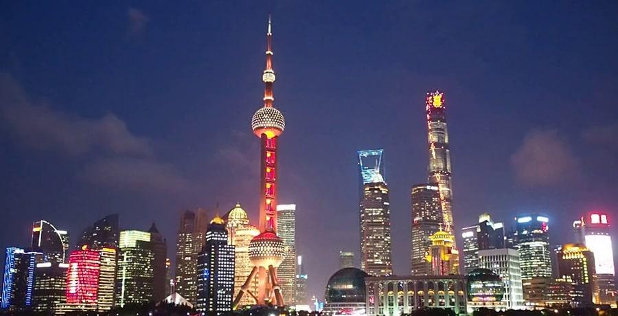 تصویری از برج مروارید دز شهر شانگهای