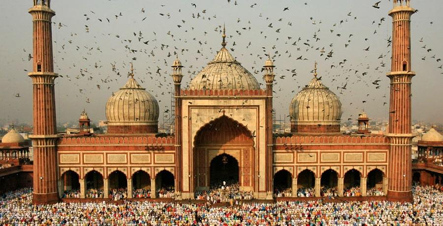 مسجد مکه، یکی از بزرگترین مساجد جهان در هند