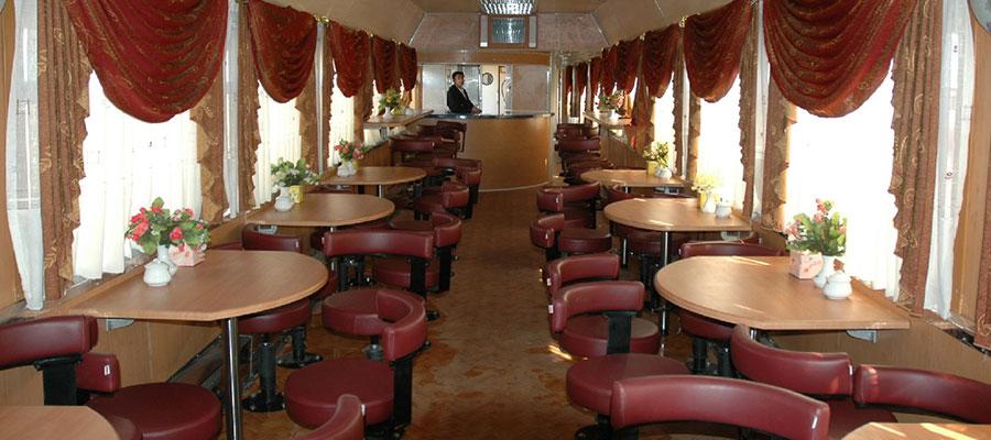 امکانات قطار غزال و رستوران آن