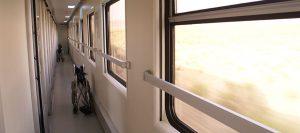 راهروی واگن قطار غزال