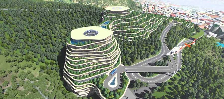 طبیعت تفلیس با معماری زیبا