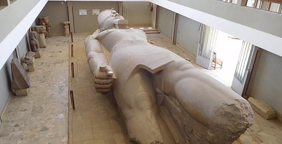 تصویری از مجسمه رامسس دوم، یادبودی از قدرتمند ترین فرعون مصر