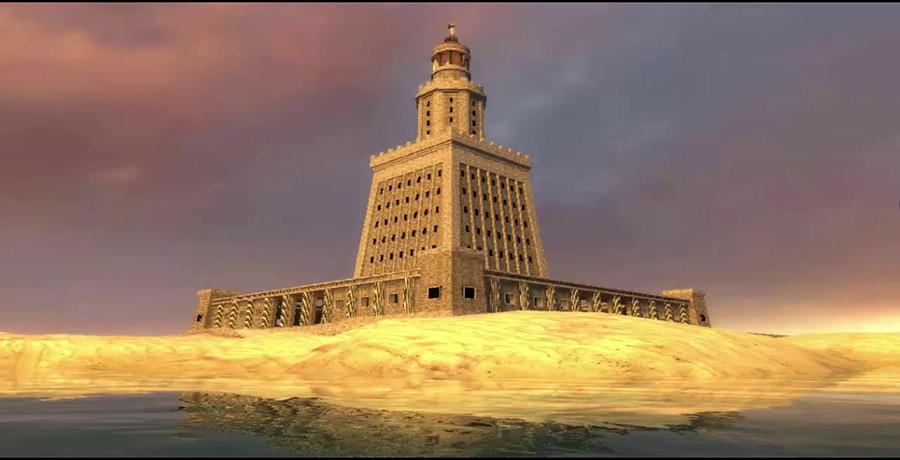 فانوس اسکندریه، یکی از عجایب هفتگانه دنیا