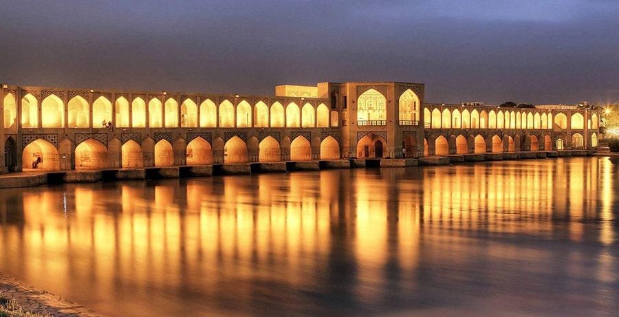 تصویری از سی و سه پل در اصفهان