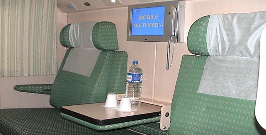 خدمات رفاهی قطار سبز مشهد، امکانات قطار رجا