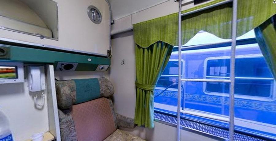 نمای داخلی قطار رجا، قطار سبز تهران مشهد