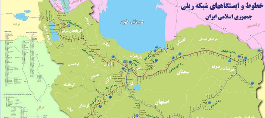 نقشه و مسیر راه آهن مشهد تبریز