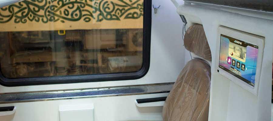 امکانات قطار فدک با هتل