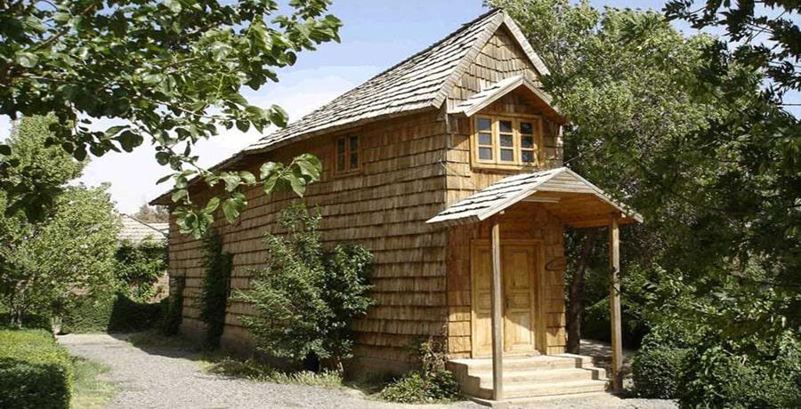 تصویری از دهکده چوبی نیشابور