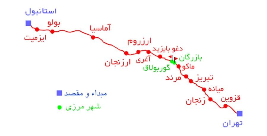 خرید بلیط قطار تهران استانبول 97