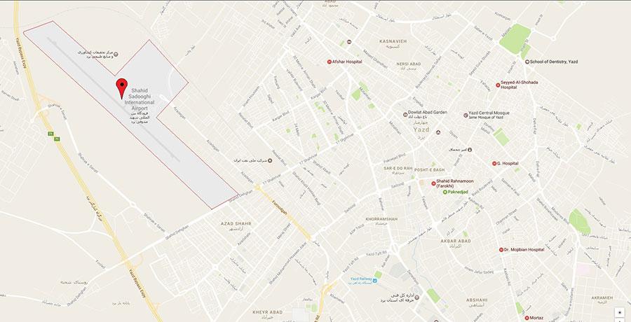 آدرس فرودگاه یزد