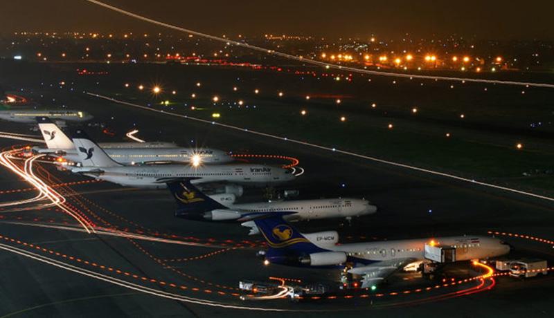 هواپیماهای فرودگاه مهرآباد