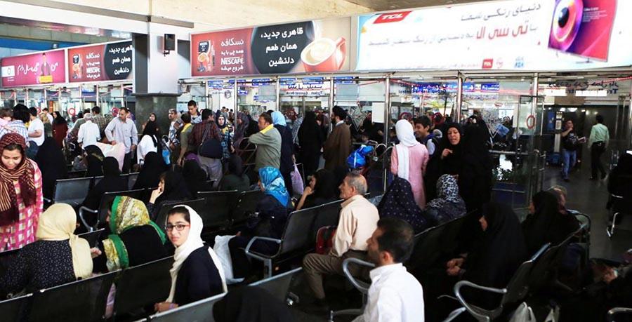 مسافران در راه آهن شیراز