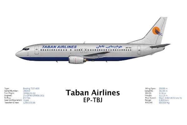 بوئینگ 737 شرکت هواپیمایی تابان
