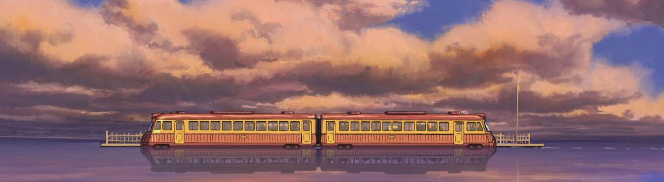 قطار در مه ایستگاه قطار