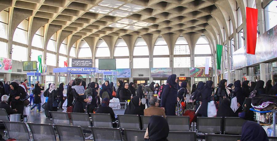 تصویر داخل ایستگاه راه آهن اصفهان