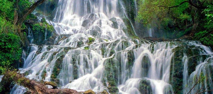 آبشار دست خوردگی شوی جزو زیباترین آبشارهای ایران